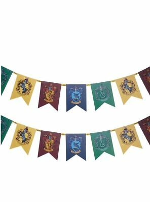 HARRY POTTER HOGWARTS HOUSES RARE BUNTING BIRTHDAY PARTY DECORATION New In Pack