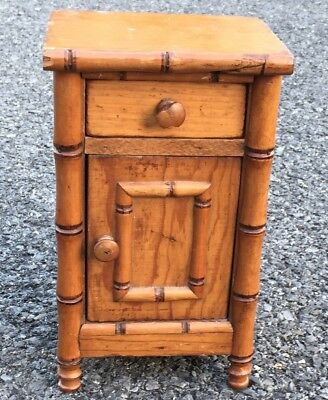 C1890 Salesman Sample Miniature Faux Bamboo R J Horner Style Night Stand