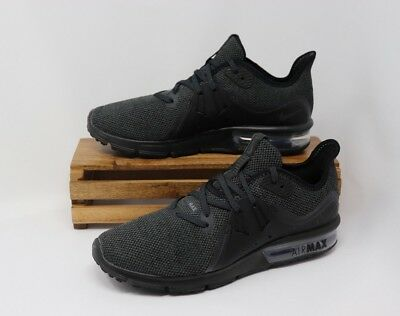 online store 53b9c f99f8 Nike Women s Air Max Sequent 3 Triple Black Anthracite 908993-010 NEW