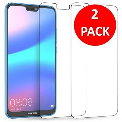 For Huawei Honor 10 Tempered Glass Screen Protector Premium Protection , 2 PACK
