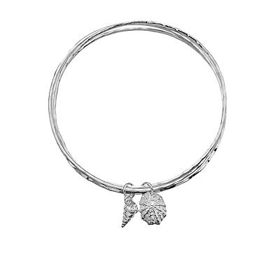 A02 Bangle With Feather And Helix Sterling Silver 925 Cheap Sales Fine Jewelry Jewelry & Watches