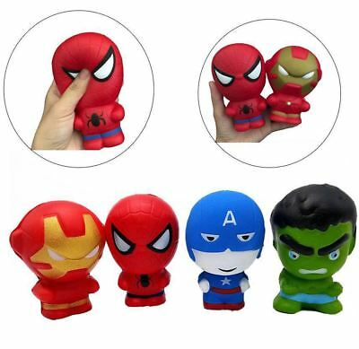 Avengers Squishy Toy Marvel Superheroes Slow Rising Squeeze Stress Reliever Toys