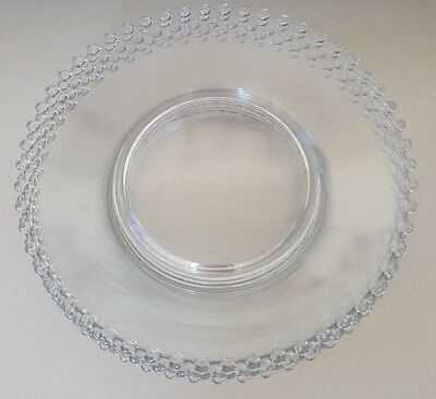 Set Of Two 10 Inch 3400 Imperial Glass Dinner Plate Candlewick Button Edges