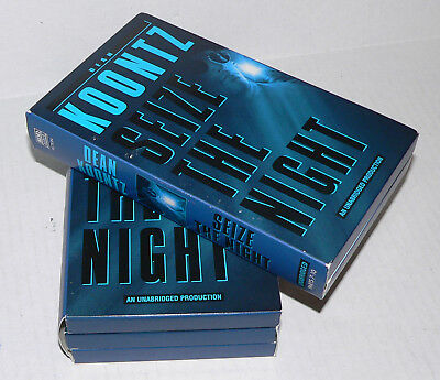 Seize the Night by Dean Koontz (1998, 10 Cassettes)  VGC, Fast Ship!!