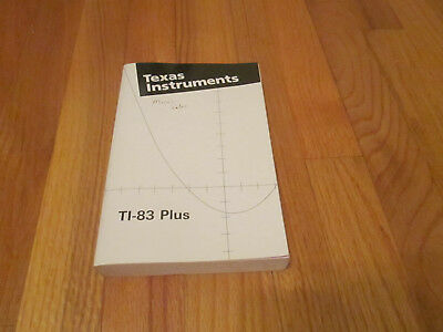 Texas Instrument TI-83 Plus Guidebook Softcover