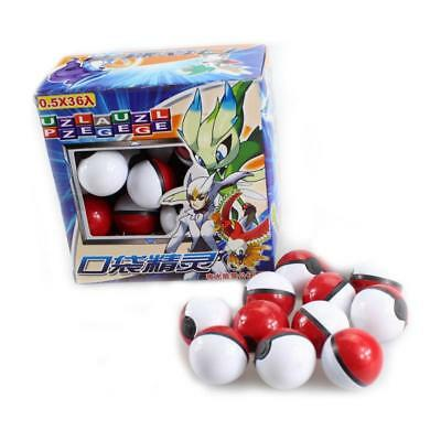 36Pcs Red Pokemon Go Pokeball Pop-up Ball & Mini Monsters Figures Toy Gift AU
