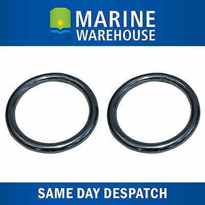 "2X Stainless Steel Anchor Retrieval Ring 8mm 5/16"" Steel - 51mm Diameter 107044"