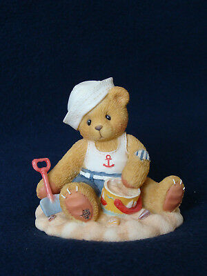 Cherished Teddies - Gregg - Boy In Sailor Swim Suit Figurine - 203505 - 1996