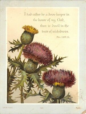 Christian Scripture Victorian Greeting Card Psalm 84:10