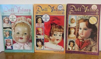 Patsy Moyer, Doll Values, Antique to Modern, Books 1, 2, and 3