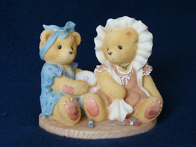 Cherished Teddies - Justine And Janice - Two Sisters Sewing Double Fig. - 537810