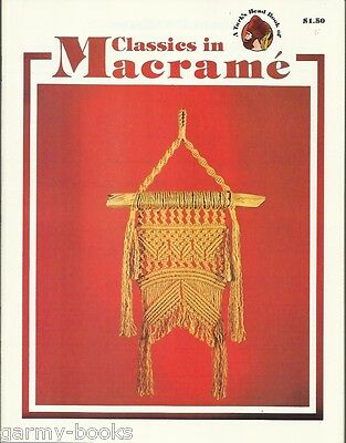 Classics in Macrame Turk's Head Series Vintage Pattern Instruction Book NEW 70's