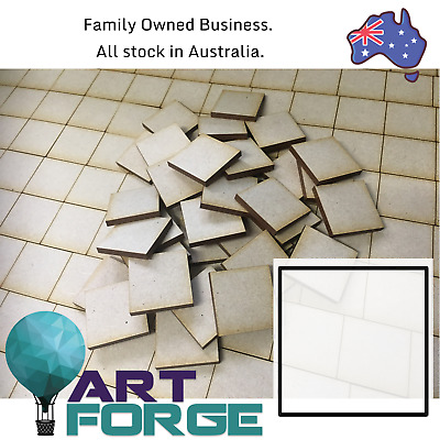 MDF Square Shapes - Base, Tag, Label - 3mm thick, 10 mm - 100 mm in size
