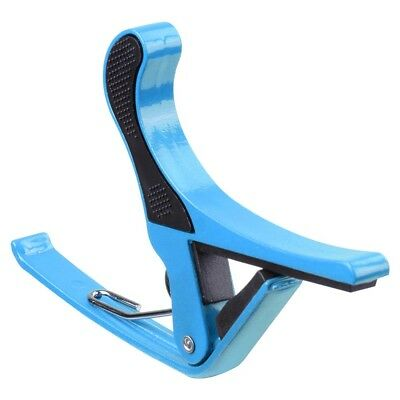 Quick Change Tune Clamp Trigger Capo For Acoustic Electric Classical Guitar Blue