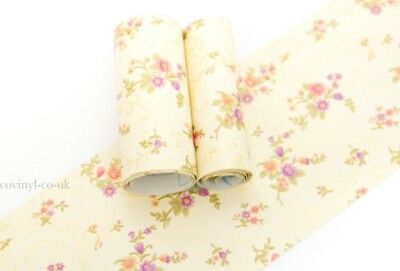 Floral Peel Stick Wallpaper Border Sticky Back Self Adhesive Ivory Yellow Gold
