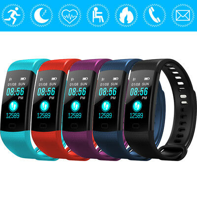 SPORT CARDIOFREQUENZIMETRO TRACKER OROLOGIO SMARTWATCH BAND PER ANDROID iOS