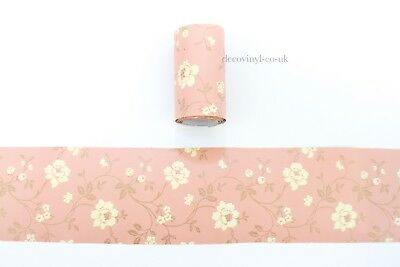 Vintage Floral Peel Stick Wallpaper Border Rust Orange Sticky Back Self Adhesive