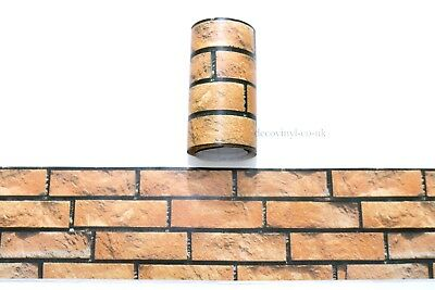 3D Orange Brick Effect Peel Stick Wallpaper Border Sticky Back Self Adhesive diy