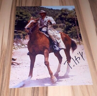 Terence Hill *Renegade, Lucky Luke*, original signed Photo 20x25 cm (8x10)