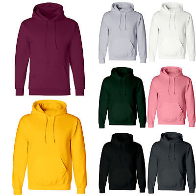 Unisex Men Women Plain Hooded Sweatshirt Coat Hoodie Blank Pullover Sweater Tops
