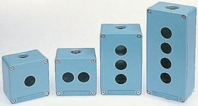 Schneider Electric Harmony XAP Push Button Enclosure, 6 Hole Blue, 22mm diameter