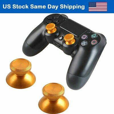 PS4 Thumbsticks Analog Bullet Button Replacement Metal Playstation 4 Button Gold