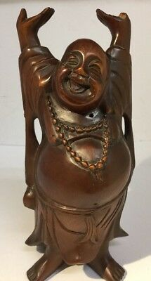 Antique Late Chinese Republic Hand Carved Wood Figure Buddha Root Carving c1940