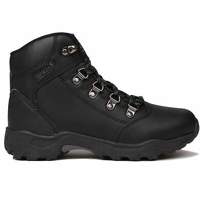 a60b4ec0aaa Gelert Kids Leather Walking Boots Metal D Rings Lace Up Outdoor Childrens  Boys