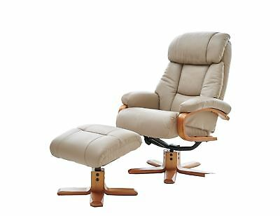 Outstanding The Nice Swivel Recliner Chair And Matching Footstool Machost Co Dining Chair Design Ideas Machostcouk