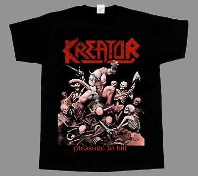 Kreator Pleasure To Kill New Short - Long Sleeve Black T-Shirt