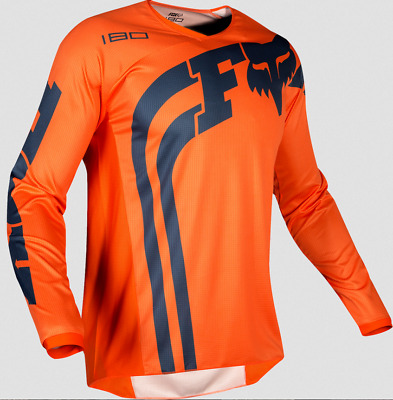 Fox Racing Kids Boys Girls Youth Orange 180 Cota Offroad Jersey Dirt Mx S M L Xl