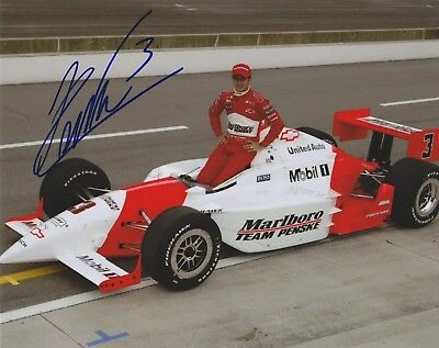 Indianapolis 500 Winner HELIO CASTRONEVES Signed Indy Auto Race 8 X 10 Photo