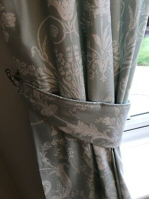 Laura Ashely Curtains And Tie Backs Josette Duck Egg Eyelet Brand New Curtains & Blinds