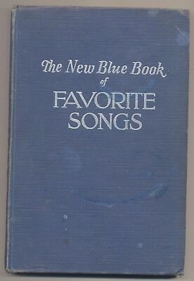 Vtg The New Blue Book of Favorite Songs Christmas Hymns Negro Spirituals Music