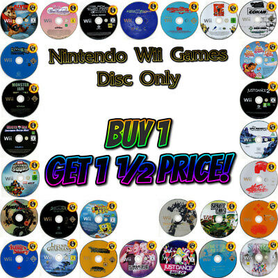 Nintendo Wii 💚 MASSIVE DISC-ONLY GAME CLEARANCE 💚 Discs Graded 6/10 to 10/10
