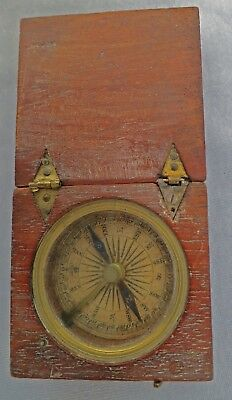 ***NICE 1800s Early Victorian Georgian Antique Compass Boxed