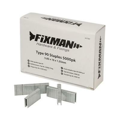 Fixman 5000 Pack Heavy Duty Type 90 Nailer Staples Choose Sizes 471953
