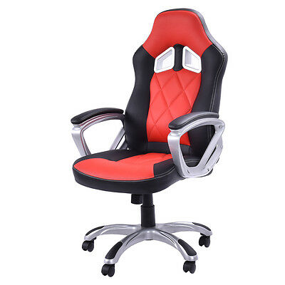Office High Back Racing Swivel Bucket Seat Gaming Chair Computer Desk Task Chair