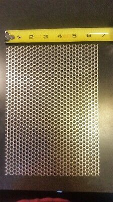 """3/16"""" HOLES 16 GAUGE 304 STAINLESS STEEL PERFORATED SHEET approx 9 × 6 1/2"""