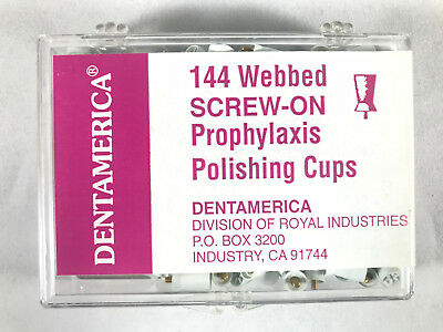 Dentamerica Dental Prophy Screw On Prophylaxis Polishing Cups Webbed Pcs