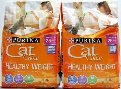 (Pack of 2) Purina Cat Chow Healthy Weight 3.15-Pound For Adult Cats