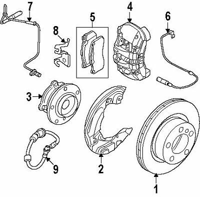 BMW 34-35-6-779-356 | CLIP FOR BRAKE PAD WEAR SENS | #6 On Picture