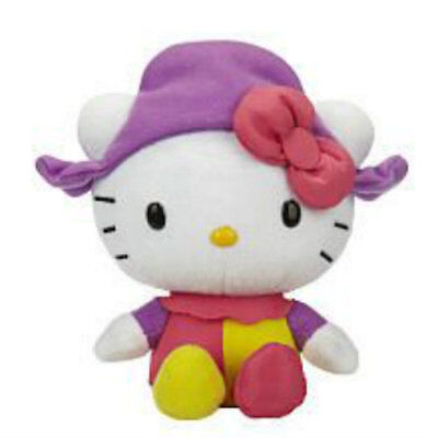 Hello Kitty Jester Clown Pink, Purple, and Yellow.