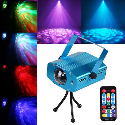 3W 7Color Led Laser Stage Lighting Ocean Water Wave Effect Projector Party Light