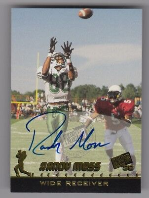 Randy Moss Autographed Minnesota Vikings Football Card