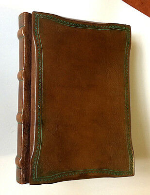 Vintage Hard-Cover Leather Address Book Handmade in Italy