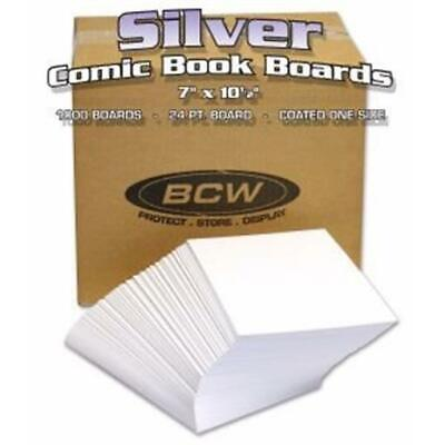 """BCW Silver Comic Backing Boards Case of 1000 Wrapped 7x10.5"""" Archival Fresh Pack"""