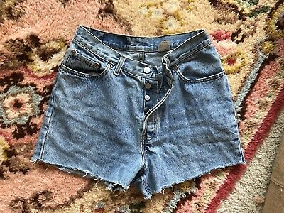 Vintage 80s 90s Levis Womens High Waisted Cutoffs Shorts 501 Button Fly