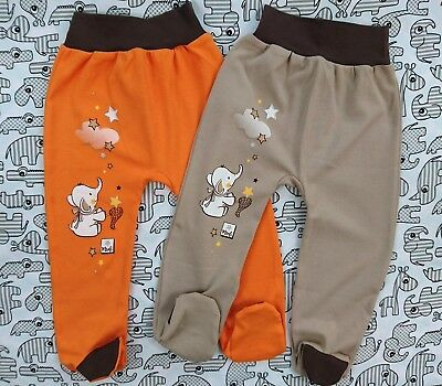7414ae9fa BNWT BABY TODDLER GIRLS  Trousers with feet  Leggings 100% Cotton 9 ...