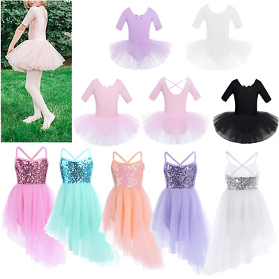 Baby Girls Ballet Princess Dress Up Kids Dance Tutu Tulle Skirt Party Costume
